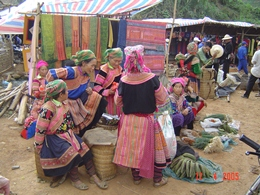 Flower Hmong Women, Bac Ha, Vietnam