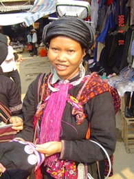 Woman at Binh Lu markets near Sapa, Vietnam