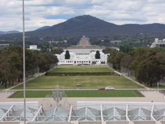 View from rooftop of Parliament House