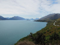 Scenic drive to Glenorchy