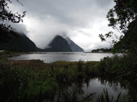 Milford Sound on cloudy day